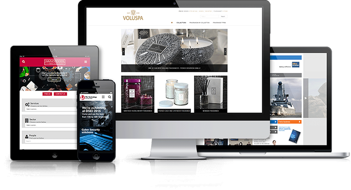 responsive website design Cheltenham on different mobile devices