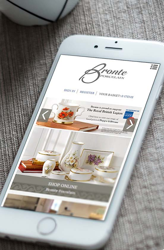 Responsive website on mobile phone