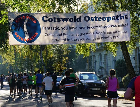 Cotswold Osteopaths Pittville Park Race in Cheltenham