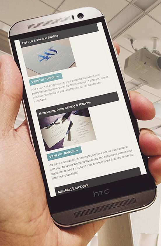 The Letter Press responsive website on HTC