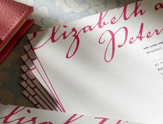 The Letter Press Weeding Invitation Cards