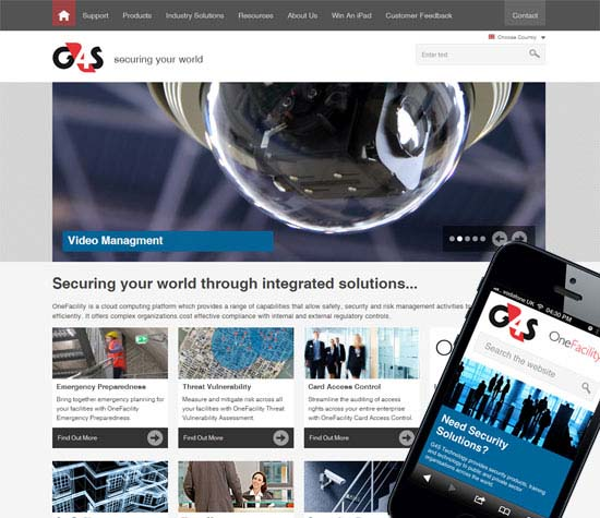 G4S Responsive website design
